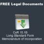 Memorandum of Incorporation Long Standard Form CoR 15.1B